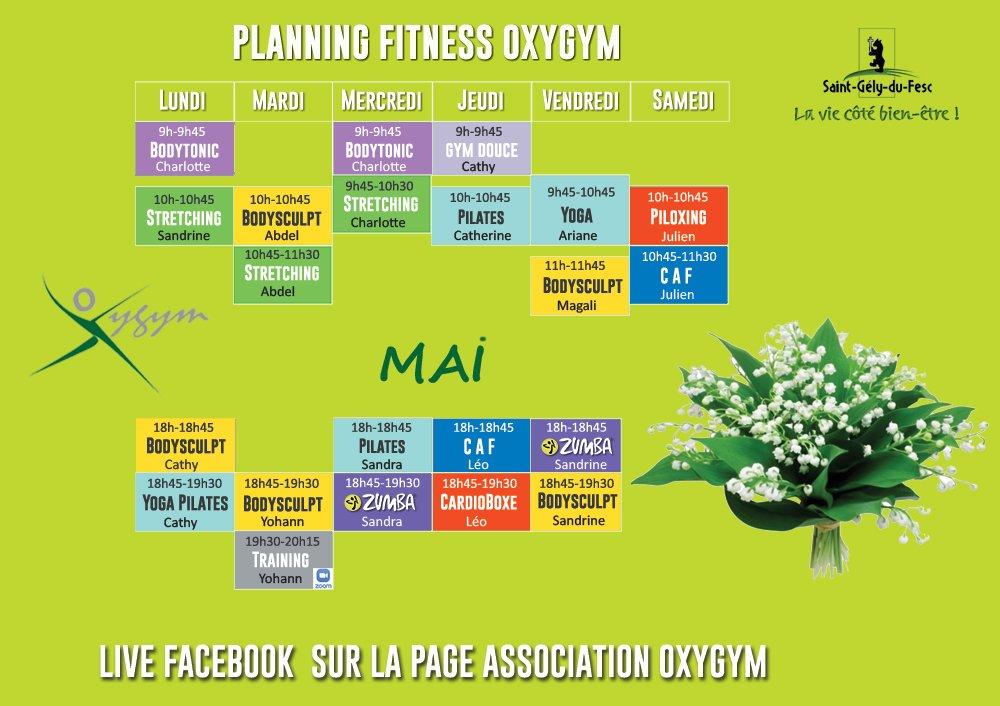 oxygym planning mai 2021